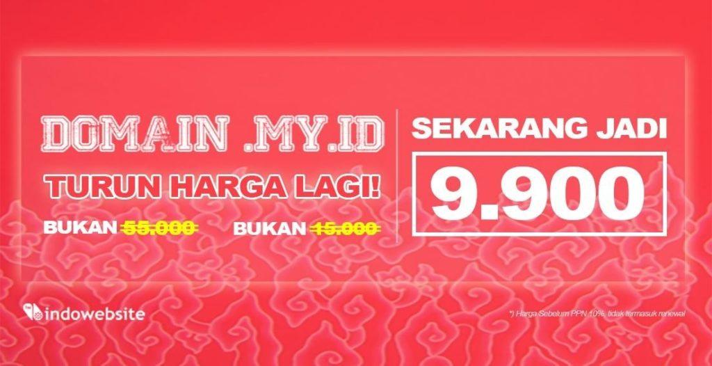 Domain my.id Turun Harga Lagi